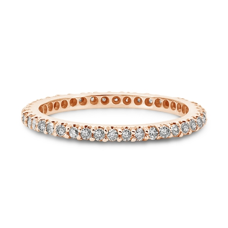 Rose Gold Diamond Ring Band Rose Gold Diamond Eternity